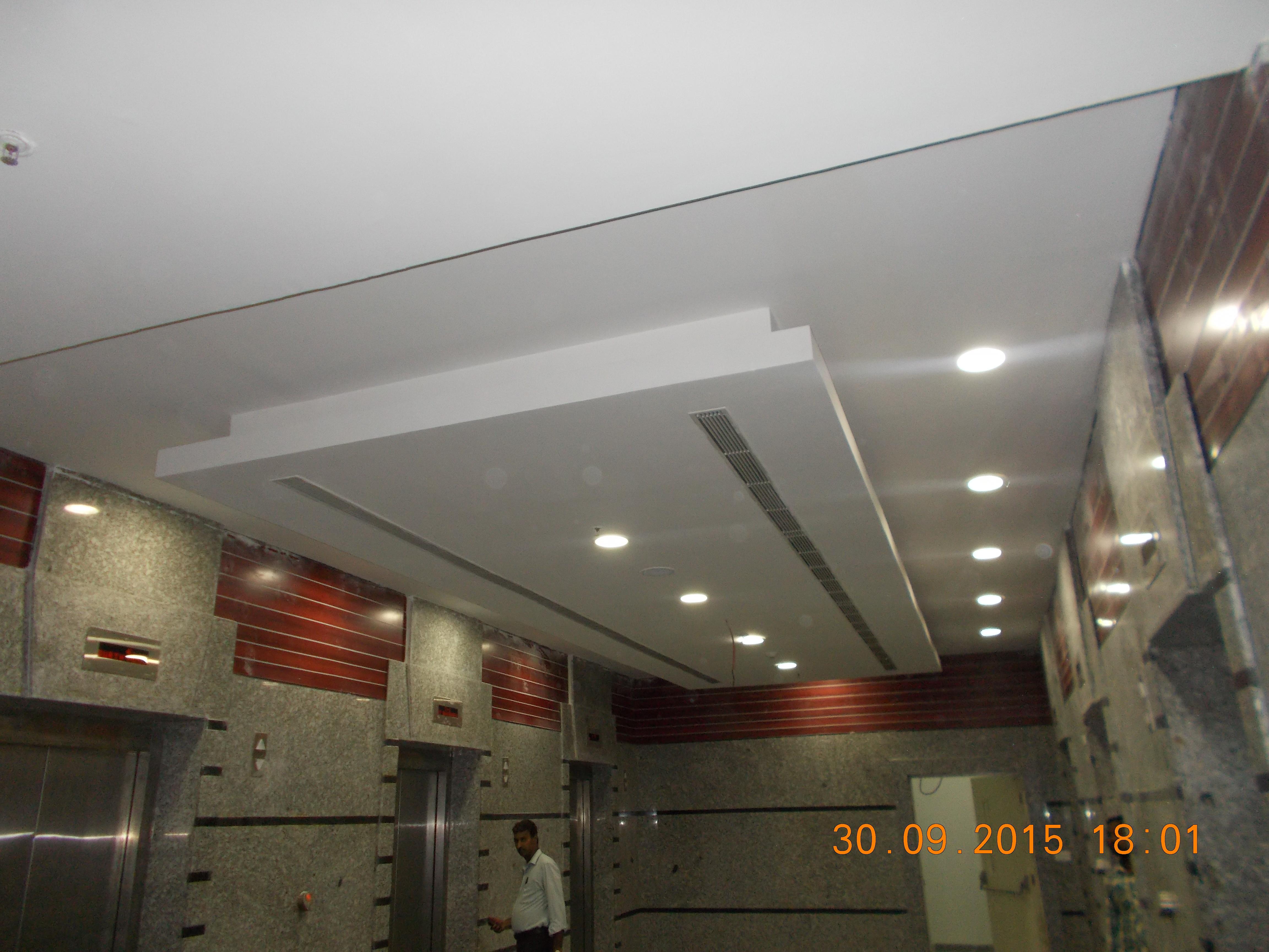 1. False ceiling & lift lobby finishes
