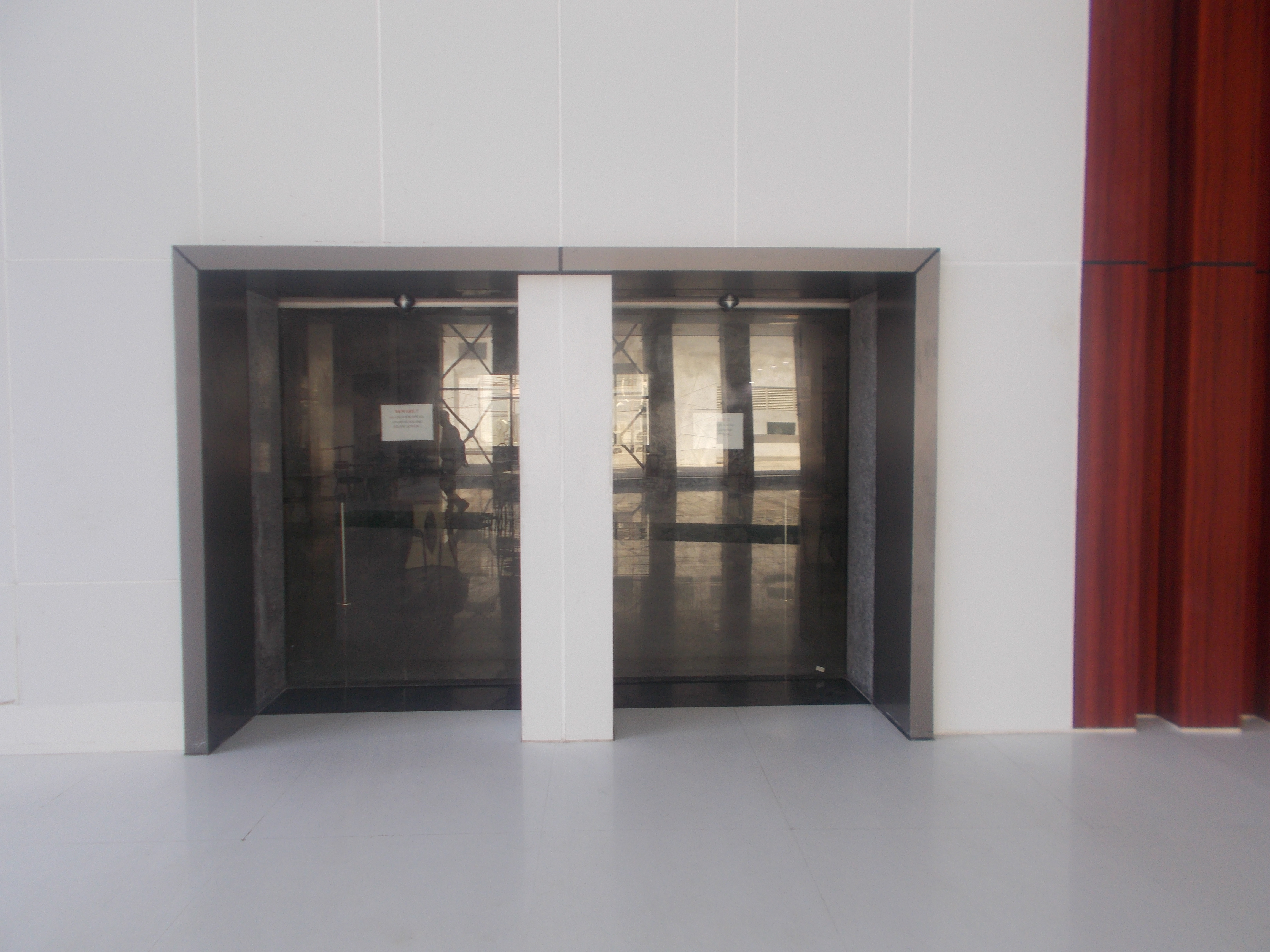 14. Entrance automated glass door
