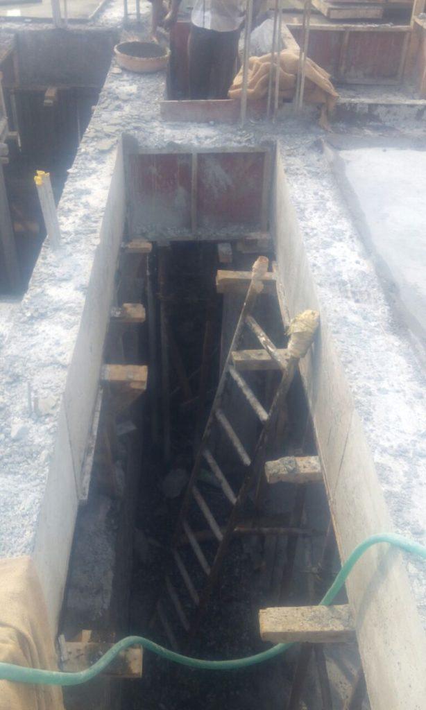 6. RCC slab cum roof beam